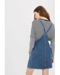 TOPSHOP - Blue Maternity Mdt True Pinafore Dress - Lyst