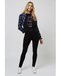 584c0bb55a9f1 TOPSHOP Tall High-waisted Ponte Legging in Black - Lyst