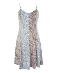 TOPSHOP - Blue Maternity Ditsy Print Tunic Dress - Lyst