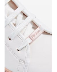 TOPSHOP - White Crush Waterproof Contrast Sole Sneaker (women) - Lyst
