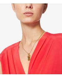 Tory Burch | Metallic Evil-eye Dogtag Necklace | Lyst