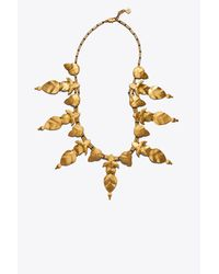 Tory Burch - Metallic Willow-leaf Necklace - Lyst