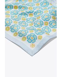Tory Burch - Blue Collage Neckerchief - Lyst