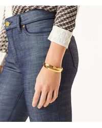Tory Burch - Multicolor Double-wrap Metal Bracelet - Lyst