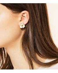 Tory Burch - Metallic Fleur Stud Earring - Lyst