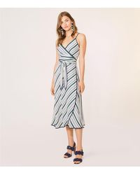 Tory Burch - Blue Villa Wrap Dress - Lyst