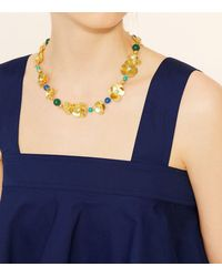Tory Burch - Blue Flower Petal Statement Necklace - Lyst