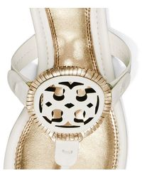 Tory Burch - Metallic Miller Fringe Sandal, Leather - Lyst