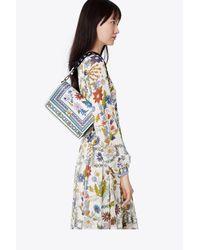 Tory Burch - Multicolor Kira Floral Double-strap Shoulder Bag - Lyst