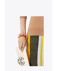 Tory Burch - Multicolor T-stripe Statement Bracelet - Lyst