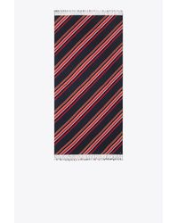 Tory Burch - Blue Vivid Stripe Oblong Scarf - Lyst