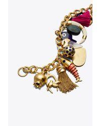 Tory Burch - Metallic Charm Bracelet - Lyst