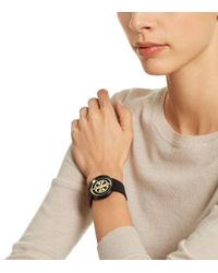Tory Burch - Metallic Reva Watch, Ivory Leather/gold-tone, 36 Mm - Lyst