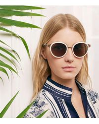 Tory Burch | Metallic Marais Sunglasses | Lyst