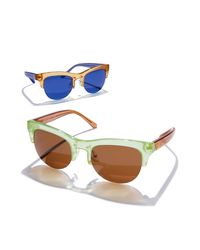 Tory Burch - Multicolor Stacked-t Sunglasses - Lyst