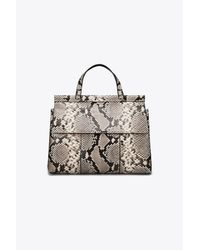 Tory Burch - Natural T Embossed Satchel - Lyst