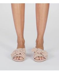 Tory Burch - Multicolor Annabelle Suede Bow Slide - Lyst