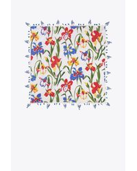 Tory Burch - White Iris Neckerchief - Lyst