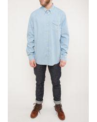 Barbour - Blue Speedrome Slim Fit Shirt Heavy Bleach for Men - Lyst
