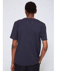 Maison Margiela - Blue Garment Dyed Tee for Men - Lyst