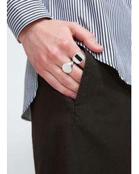 Maison Margiela - Metallic Signet Ring for Men - Lyst