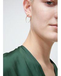 Gabriela Artigas - Metallic Pave Lunula Earrings - Lyst