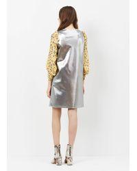 Junya Watanabe - Metallic Silver L/s Shift Dress - Lyst
