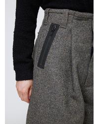 Craig Green Gray Grey Bonded Tweed Trouser