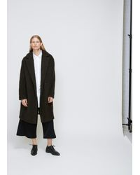 Dusan Brown Asymmetric Coat