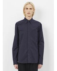 Marni - Blue Navy Hidden Placket Shirt for Men - Lyst