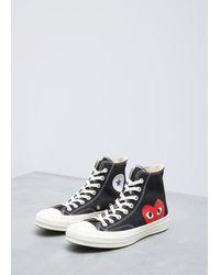 Play Comme des Garçons - Black Converse Chuck Taylor High-top Sneaker - Lyst
