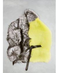 Jil Sander - Multicolor Grey/green Fur Scarf - Lyst