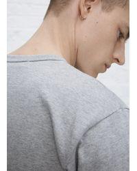 Play Comme des Garçons - Gray Grey Play T-shirt for Men - Lyst