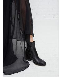 Ann Demeulemeester | Vitello Lux Black Classic Heeled Boot | Lyst