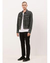Acne Black Denim Jacket lyst - acne studios black vintage who denim jacket in black for men