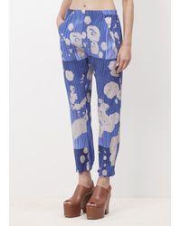 Zero + Maria Cornejo | Blue Lotus Cobalt Silk Gabi Trouser | Lyst