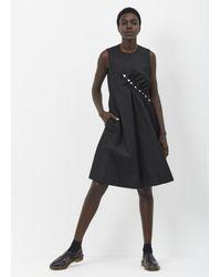 Noir Kei Ninomiya - Black Pearl Side Dress - Lyst