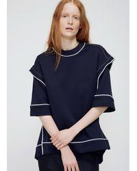 Marni | Blue Blublack Deconstructed Ss Sweatshirt | Lyst