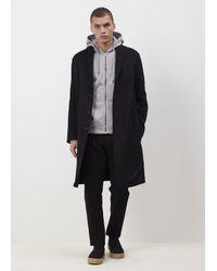 Acne - Black Charlie Coat for Men - Lyst