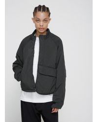 Y-3 - Dark Black Olive Padded Short Jacket - Lyst