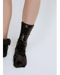 Off-White c/o Virgil Abloh - Black Sequin Socks - Lyst