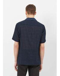 Cmmn Swdn - Blue Navy Check Deven Popover Shirt for Men - Lyst