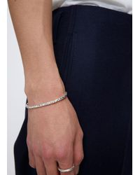 All_blues - Metallic Narrow Open-ended Cuff In Polished And Carved Sterling Silver. Sterling Silver. Made In Stockholm. for Men - Lyst