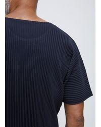 Homme Plissé Issey Miyake - Blue Navy T-shirt for Men - Lyst