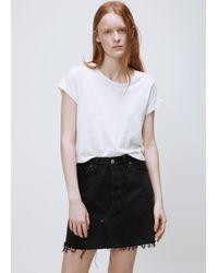 Re/done - Black High Rise Mini Skirt - Lyst