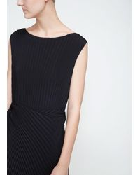 Issey Miyake - Black Solid Pleats Dress - Lyst