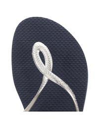 Havaianas - Blue Womens Navy/silver Luna Sandals - Lyst