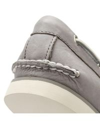 Timberland - Gray Mens Steeple Grey Classic Boat Shoes for Men - Lyst