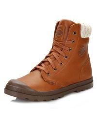 Palladium - Womens Brown Pampa Hi Knit Lp Boots - Lyst