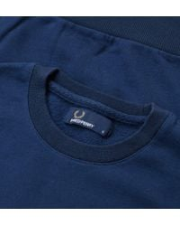 Fred Perry - Blue Fred Perry M2599 Crew Neck Sweat Dark Night Jumpers & Cardigans for Men - Lyst